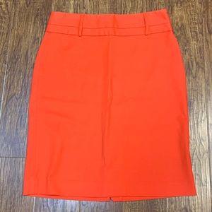 Rafaella orange pencil skirt size 6